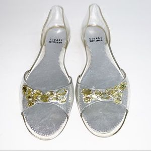 "Stuart Weitzman ""Blingy"" Sandals Size 8 / 39"